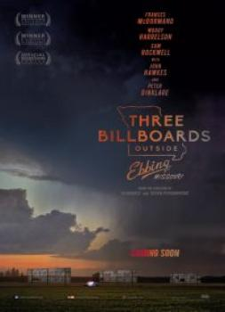<b>Martin McDonagh</b><br>Trije plakati pred mestom (2017)<br><small><i>Three Billboards Outside Ebbing, Missouri</i></small>